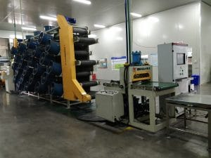 compression molding rubber through automated mixing